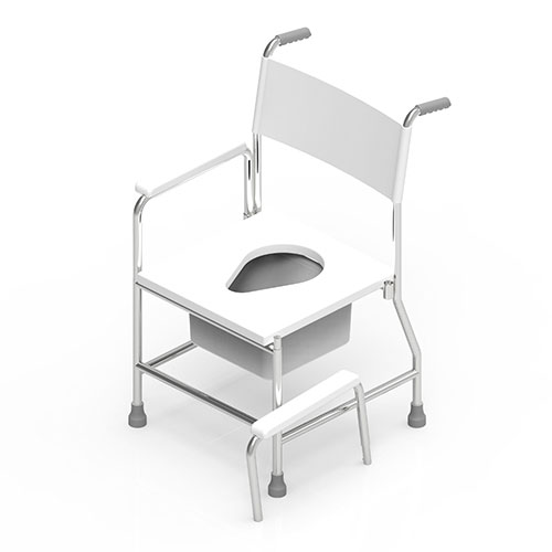Stationary Commode Shower Chair