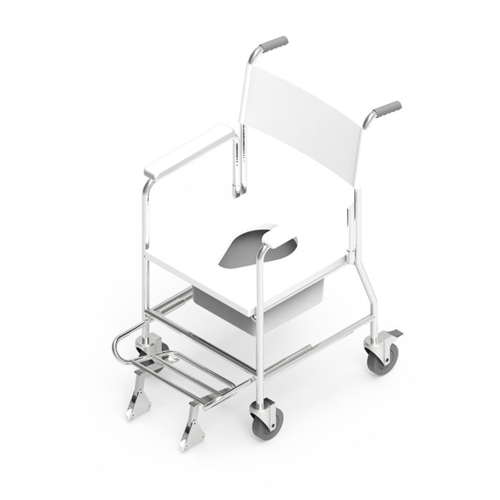 Mobile Commode with Anti-Tipper